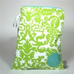 BABY by Danish - Green Damask Wet Bag